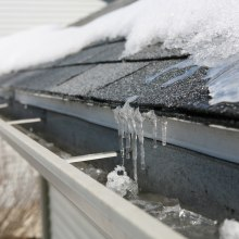 Winter is a huge burden for many buildings, with ice accumulating in gutters and downpipes.